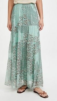 Ba&sh Obbie Skirt – mixed print maxi skirts