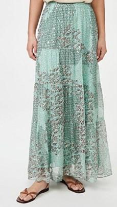 Ba&sh Obbie Skirt – mixed print maxi skirts - flipped