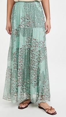 Ba&sh Obbie Skirt – mixed print maxi skirts