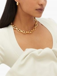 SOPHIE BUHAI Barbara 18kt gold-vermeil chain necklace – chunky chain-link necklaces