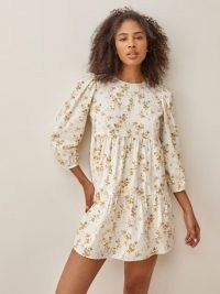 REFORMATION Beckett Dress – puff sleeve tiered dresses