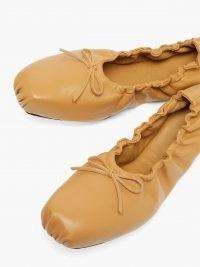KHAITE Ahsland foldable leather flats