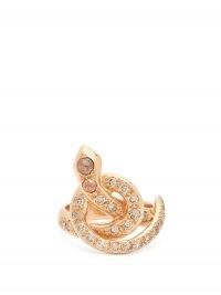 Serpent rings | ILEANA MAKRI Berus diamond & 18kt rose-gold snake ring