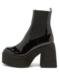 NODALETO Bulla Asuka patent-leather platform Chelsea boots ~ chunky high shine towering platforms