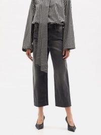BALENCIAGA High-rise cropped straight-leg jeans | black denim