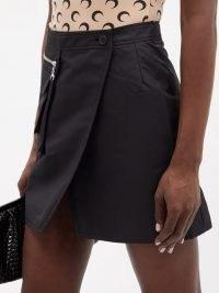 MARINE SERRE Survival Cycling technical jersey mini skirt | black utility skirts