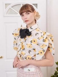 sister jane Lady Love Puff Sleeve Blouse / romantic floral volume sleeved blouses