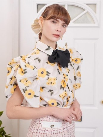 sister jane Lady Love Puff Sleeve Blouse / romantic floral volume sleeved blouses - flipped