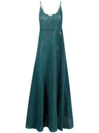Bottega Veneta open-knit drawstring maxi-dress | skinny strap knitted dresses