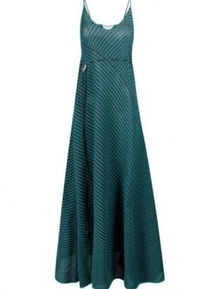 Bottega Veneta open-knit drawstring maxi-dress | skinny strap knitted dresses - flipped