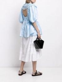 Cecilie Bahnsen Lulu peplum tunic top | blue open back tops