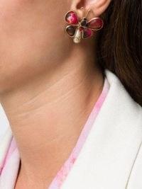 Chanel Pre-Owned butterfly motif earrings – designer costume jewellery