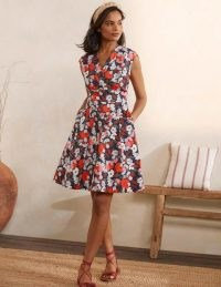 BODEN Clemmie Dress French Navy, Peony Burst / summer fit and flare dresses