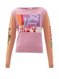 CHLOÉ Corita Kent-intarsia wool sweater | designer slogan sweaters