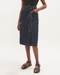 JIGSAW DENIM BELTED MIDI SKIRT ~ tie waist skirts