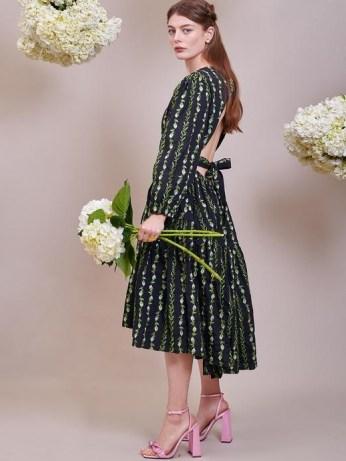 sister jane DREAM Sugar Chain Midi Dress – romantic open back dresses - flipped