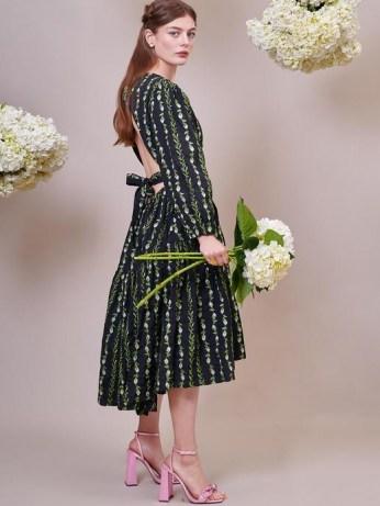 sister jane DREAM Sugar Chain Midi Dress – romantic open back dresses
