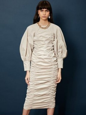 sister jane Ghospell Dramatic Pause Ruched Midi Dress