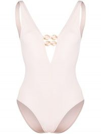 Eres Oasis plunge-neck swimsuit in rose pink