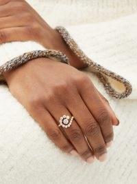 SOPHIE BILLE BRAHE Escargot de Diamant diamond & 18kt gold ring ~ luxe rings with white diamonds