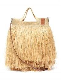 LOEWE PAULA'S IBIZA Fringed raffia basket bag ~ large summer beach bags