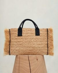JIGSAW HOLKHAM STRAW SHOPPER BAG / chic summer shoppers