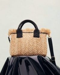 JIGSAW HOLME STRAW MINI BAG / small chic summer top handle bags