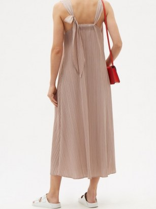 PLEATS PLEASE ISSEY MIYAKE Knotted-strap technical-pleated dress / effortless style summer dresses - flipped