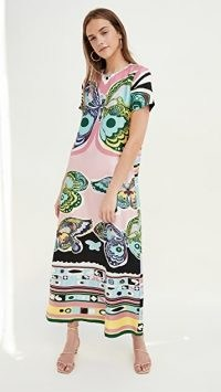 La Double J Silk Swing Dress Butterfly