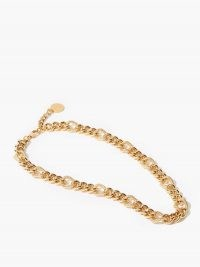 BY ALONA Lana curb-chain 18kt gold-plated necklace – chunky necklaces