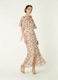 L.K. Bennett MARGOT DAISY PRINT CRINKLE SILK MAXI DRESS | feminine vintage style occasion dresses | retro event wear