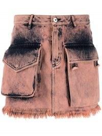 Marques'Almeida acid-wash mini skirt | pink denim utility skirts