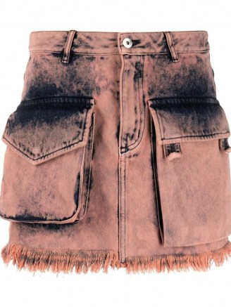 Marques'Almeida acid-wash mini skirt | pink denim utility skirts