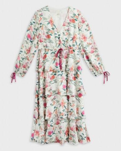TED BAKER MILLIII Metropolis Printed Tiered Midi Dress / romantic floral dresses