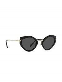 Miu Miu Eyewear Artiste geometric-frame sunglasses | black tinted sunnies