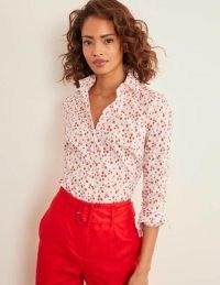 BODEN Modern Classic Shirt Ivory, Berries / fruit print shirts