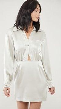 Nanushka Altair Dress Silver Taupe – cut out waist dresses