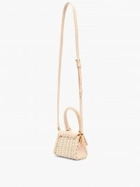 JACQUEMUS Chiquito leather and wicker cross-body bag ~ luxe mini crossbody bags