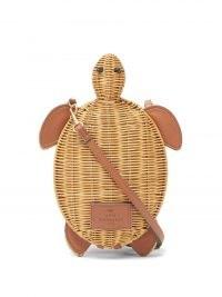 ANYA HINDMARCH Turtle wicker cross-body bag – cute animal crossbody bags -turtles