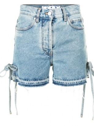 Off-White side-tie denim shorts - flipped