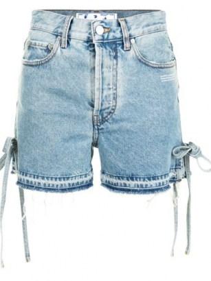 Off-White side-tie denim shorts