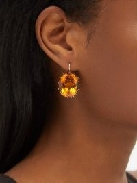 ILEANA MAKRI Topaz & 14kt gold drop earrings – statement drops