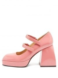 Bulla Babies pink patent-leather Mary Jane pumps ~ cute and chunky Mary Janes