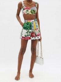 DOLCE & GABBANA High-rise patchwork cotton-poplin shorts ~ beautiful summer fashion