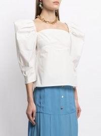 Rejina Pyo Anita puff-sleeve blouse | structured blouses