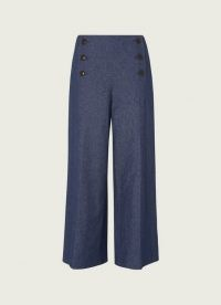 L.K. Bennett SAILOR DENIM WIDE-LEG TROUSERS