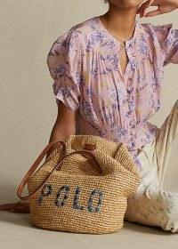 Polo Ralph Lauren Raffia Medium Tote Bag. STRAW SUMMER BAGS