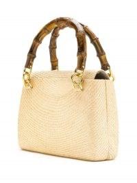 SERPUI straw shoulder bag. SMALL CHIC HANDBAG