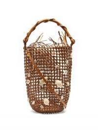 LOEWE PAULA'S IBIZA Shell braided leather bucket bag / summer bags inspired by the sea