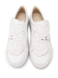 Sophia Webster white butterfly sneakers